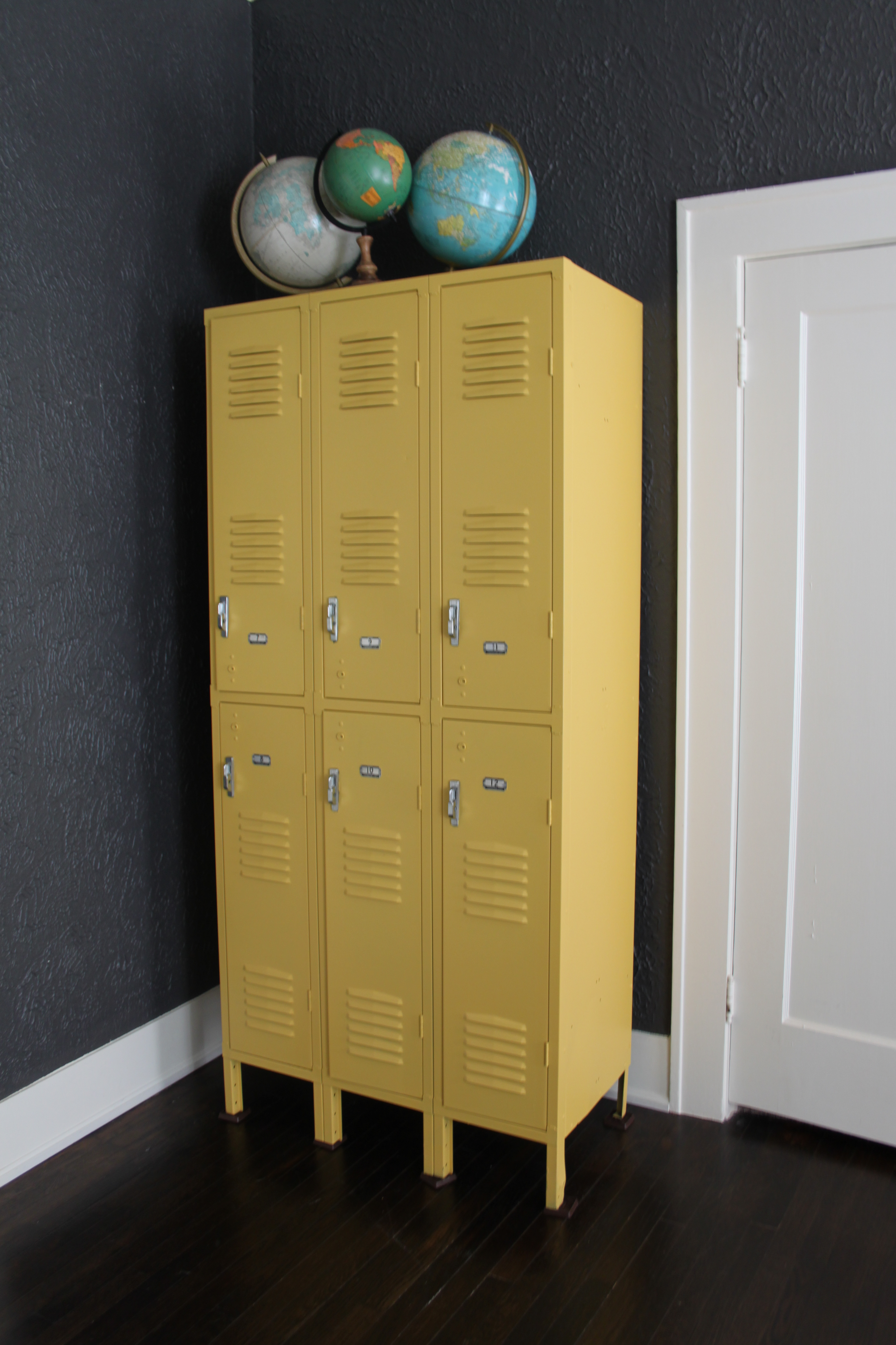 vintage lockers found on lakewood garage sale site a must join for locals then painted by my friends at arcadian furniture sherwin williams